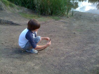 Making a fishing stick